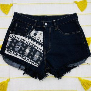 Levi's Black High Rise Cut Off Shorts Womens 10